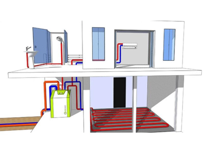 Sistema geotermia invierno